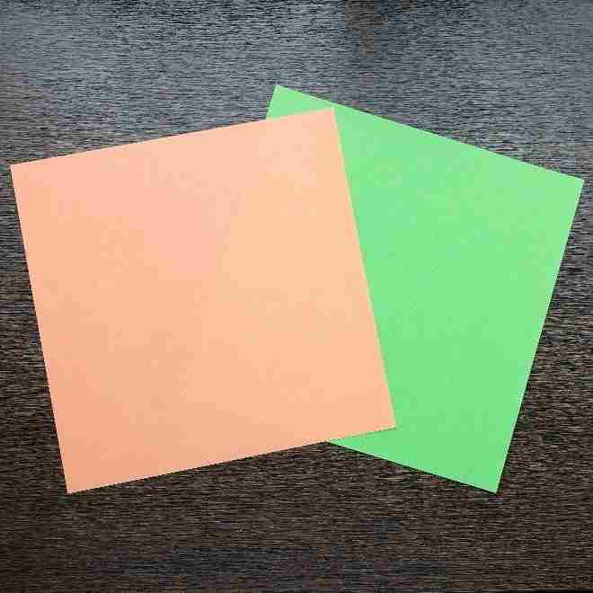 メロンパンナちゃんの折り紙(顔)*用意するもの (1)