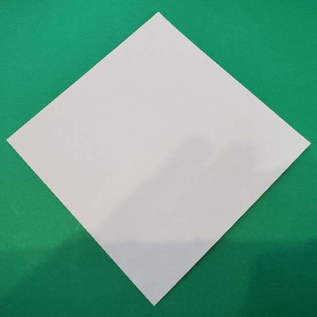折り紙でコキンちゃんをつくる折り方作り方 (1)