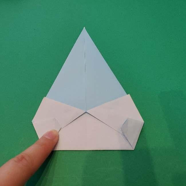 折り紙でコキンちゃんをつくる折り方作り方 (12)