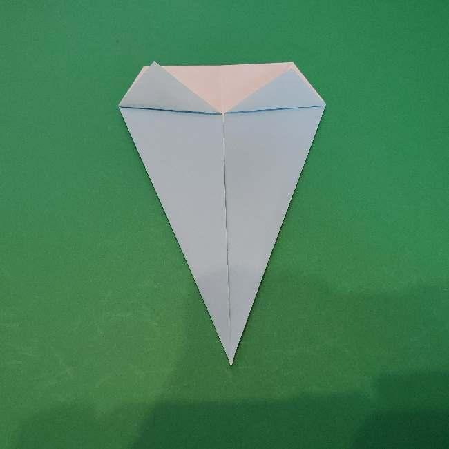 折り紙でコキンちゃんをつくる折り方作り方 (14)