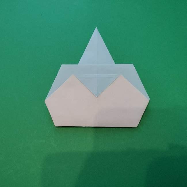 折り紙でコキンちゃんをつくる折り方作り方 (17)