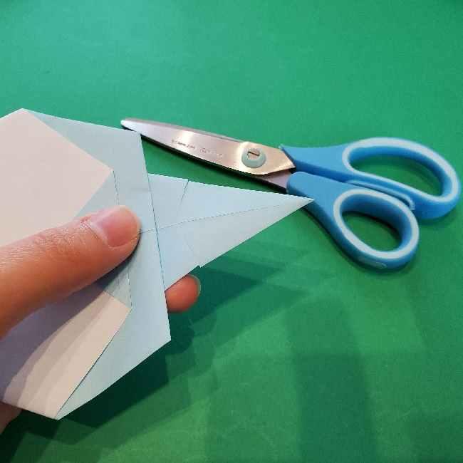 折り紙でコキンちゃんをつくる折り方作り方 (18)