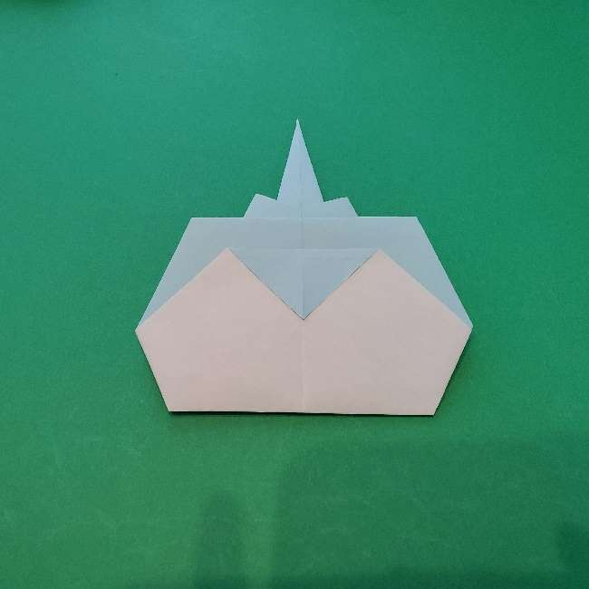 折り紙でコキンちゃんをつくる折り方作り方 (21)