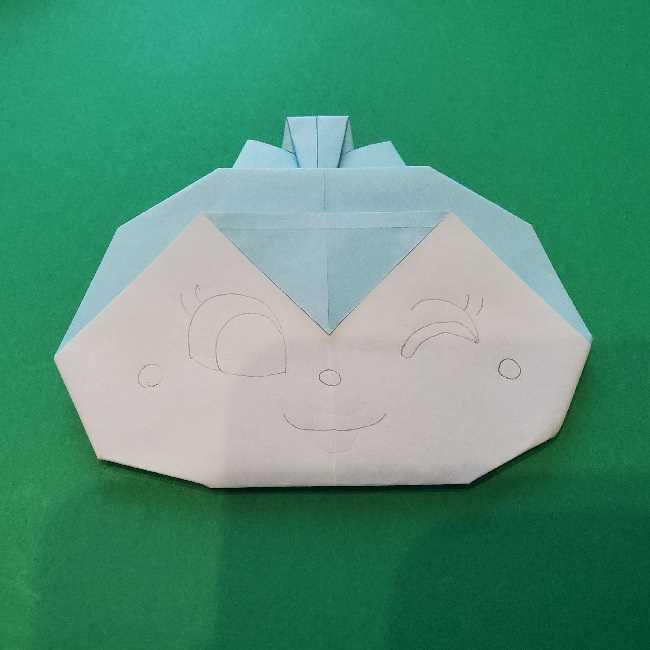 折り紙でコキンちゃんをつくる折り方作り方 (24)