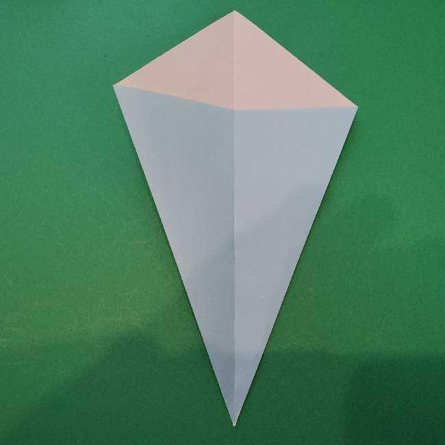折り紙でコキンちゃんをつくる折り方作り方 (4)