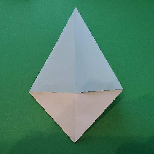 折り紙でコキンちゃんをつくる折り方作り方 (5)