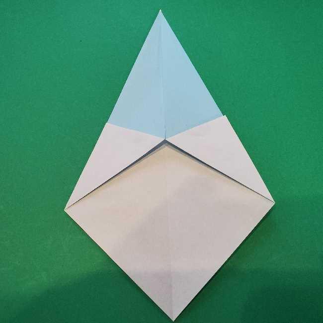 折り紙でコキンちゃんをつくる折り方作り方 (6)