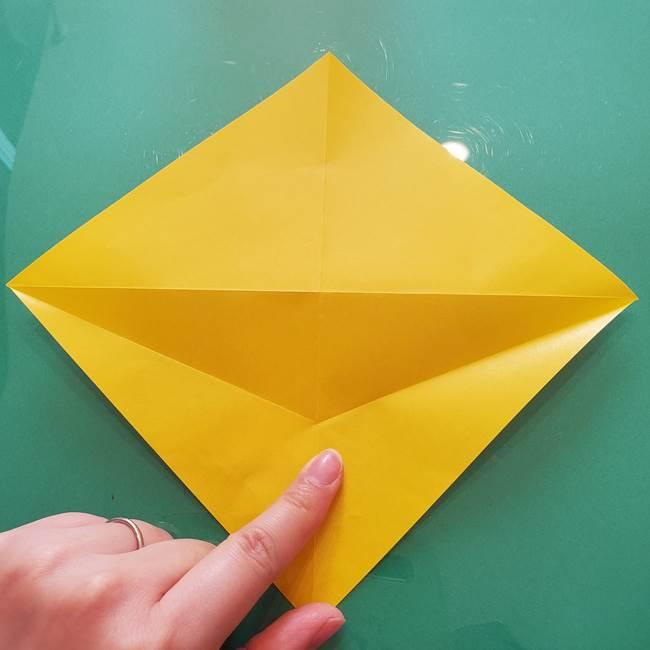 折り紙のセミ 立体的で難しい折り方・作り方(10)
