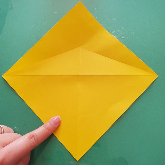 折り紙のセミ 立体的で難しい折り方・作り方(11)