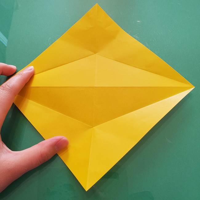 折り紙のセミ 立体的で難しい折り方・作り方(12)