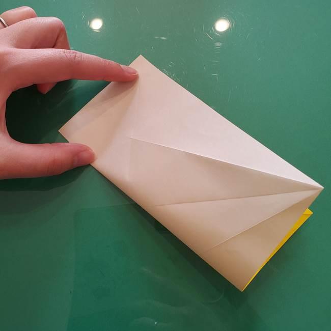 折り紙のセミ 立体的で難しい折り方・作り方(14)