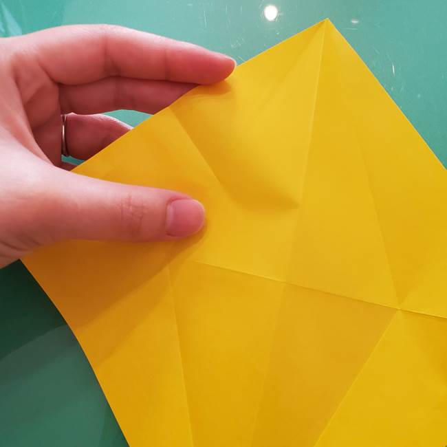 折り紙のセミ 立体的で難しい折り方・作り方(15)