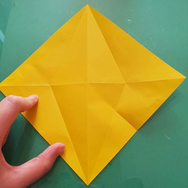 折り紙のセミ 立体的で難しい折り方・作り方(16)