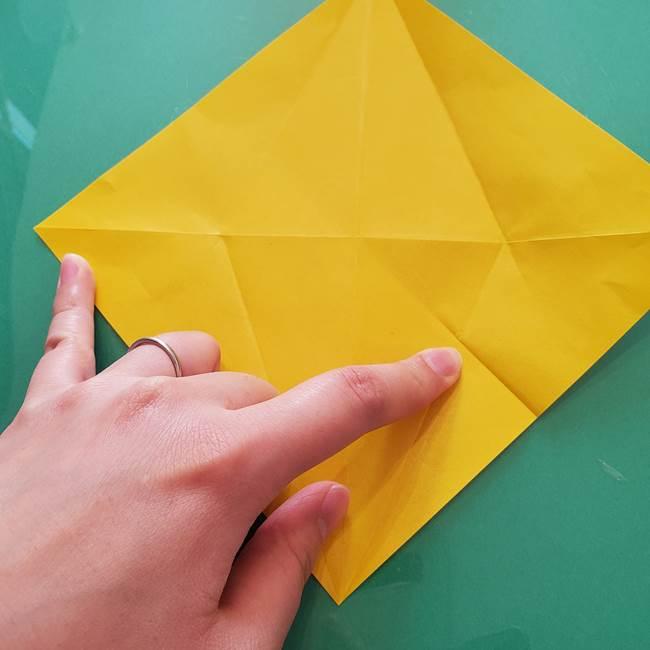 折り紙のセミ 立体的で難しい折り方・作り方(17)