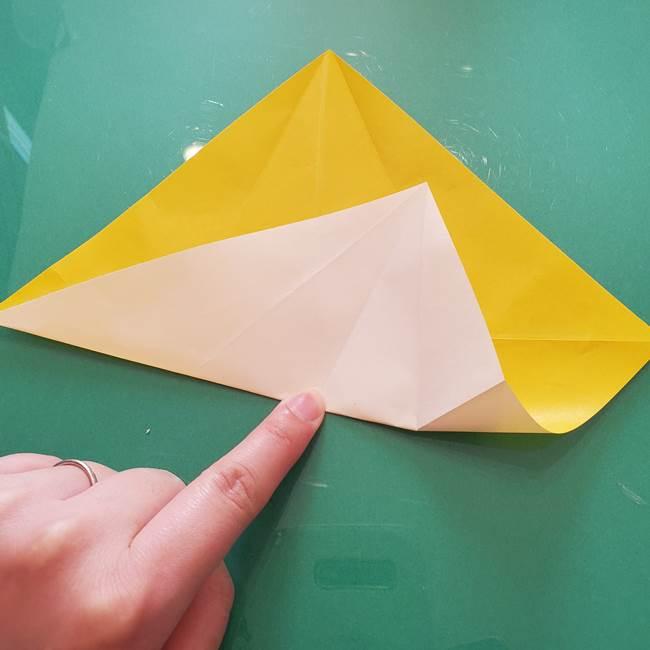 折り紙のセミ 立体的で難しい折り方・作り方(18)