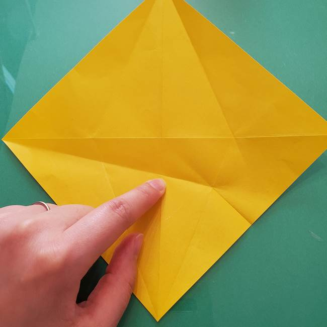 折り紙のセミ 立体的で難しい折り方・作り方(19)