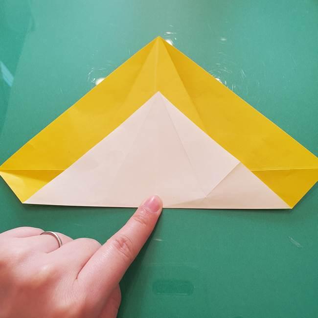 折り紙のセミ 立体的で難しい折り方・作り方(20)