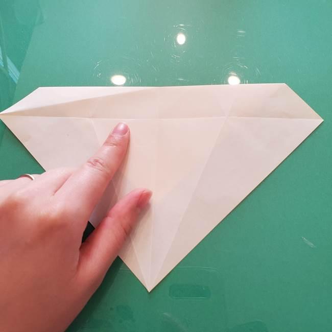 折り紙のセミ 立体的で難しい折り方・作り方(21)