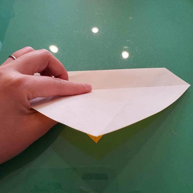 折り紙のセミ 立体的で難しい折り方・作り方(22)