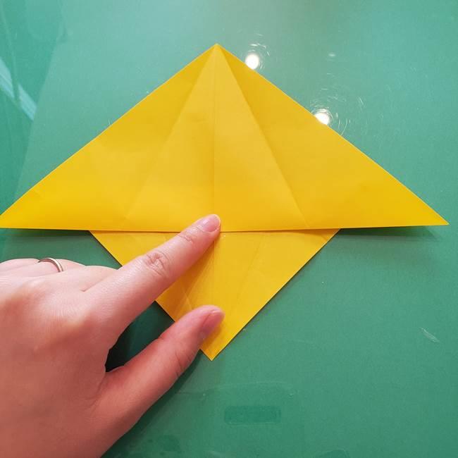 折り紙のセミ 立体的で難しい折り方・作り方(23)