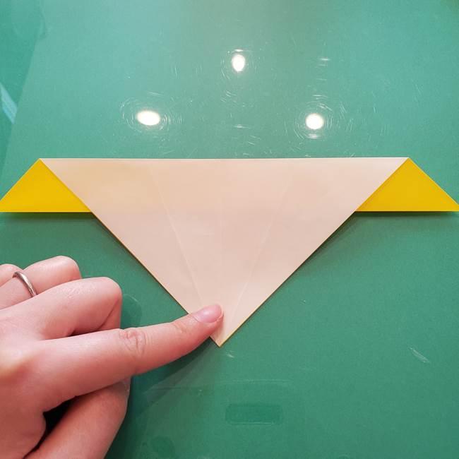 折り紙のセミ 立体的で難しい折り方・作り方(24)