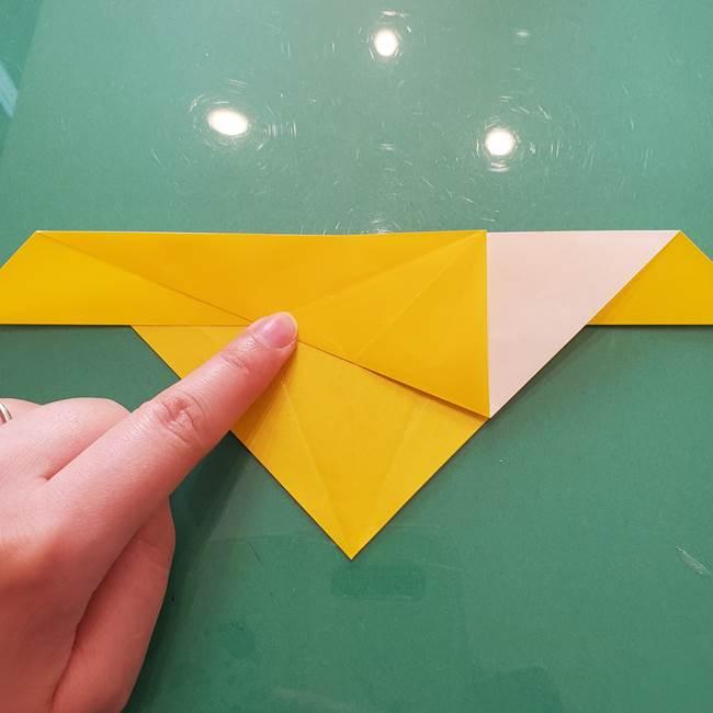 折り紙のセミ 立体的で難しい折り方・作り方(25)