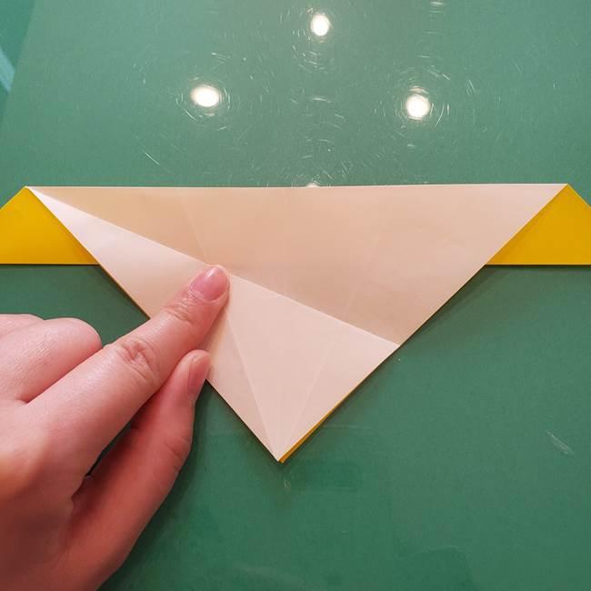 折り紙のセミ 立体的で難しい折り方・作り方(26)