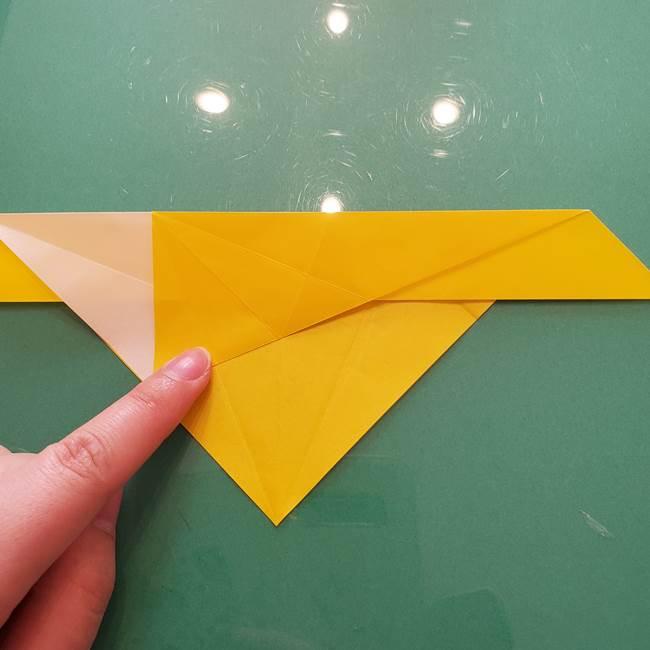 折り紙のセミ 立体的で難しい折り方・作り方(27)