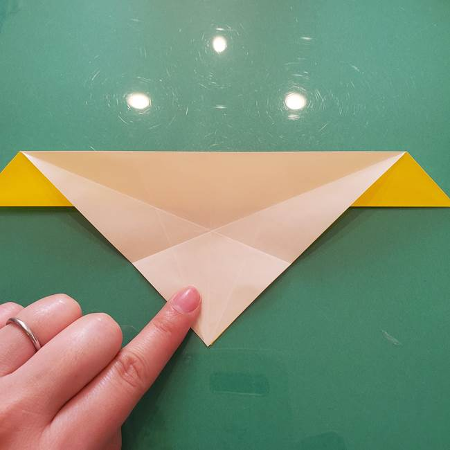 折り紙のセミ 立体的で難しい折り方・作り方(28)