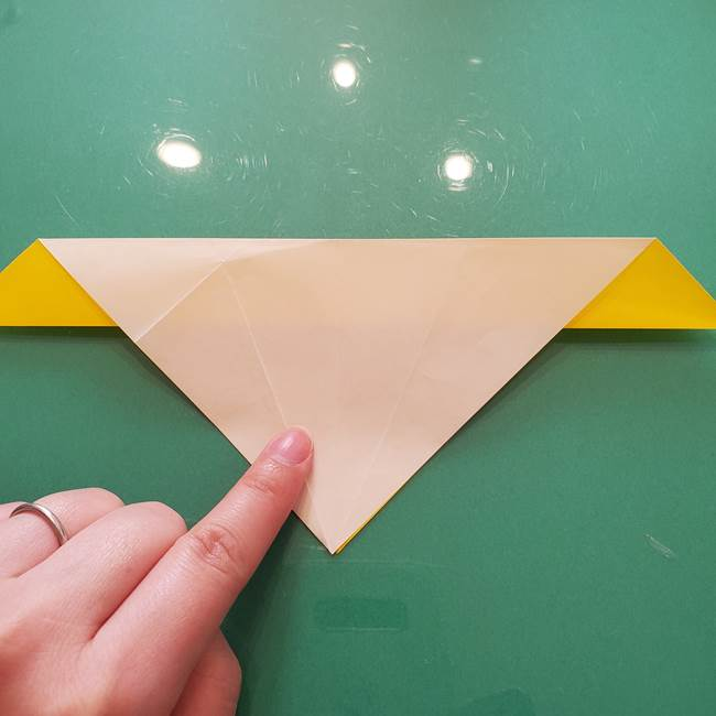 折り紙のセミ 立体的で難しい折り方・作り方(29)