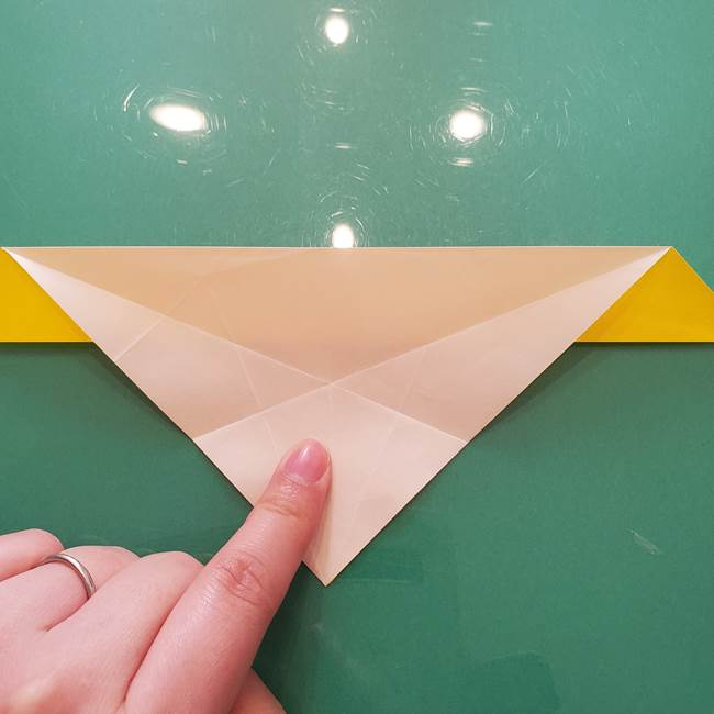 折り紙のセミ 立体的で難しい折り方・作り方(30)