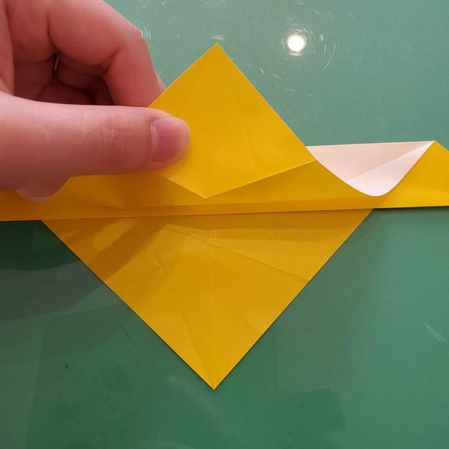 折り紙のセミ 立体的で難しい折り方・作り方(31)