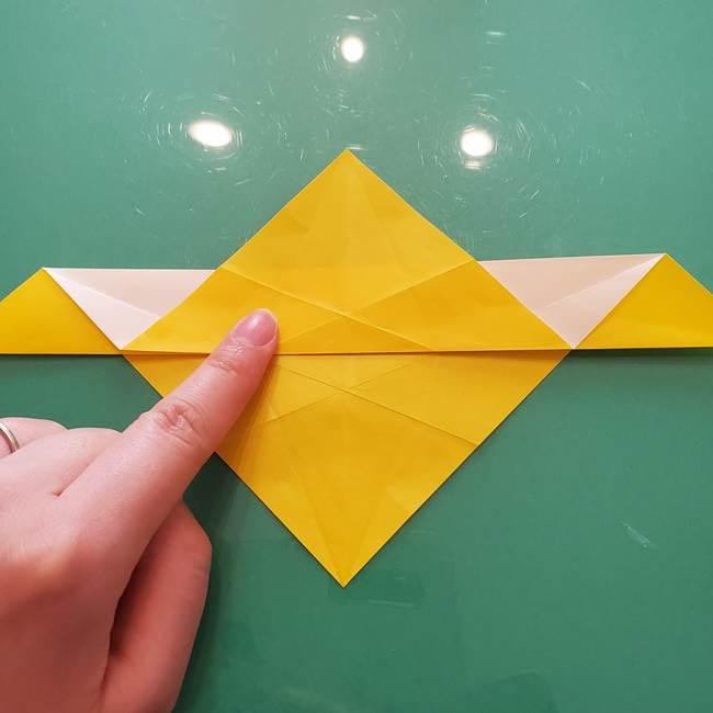 折り紙のセミ 立体的で難しい折り方・作り方(32)