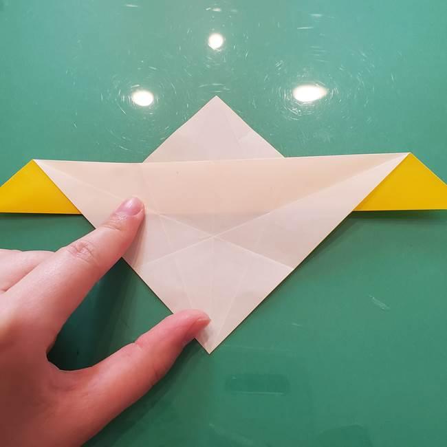 折り紙のセミ 立体的で難しい折り方・作り方(33)