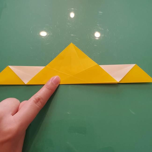 折り紙のセミ 立体的で難しい折り方・作り方(34)