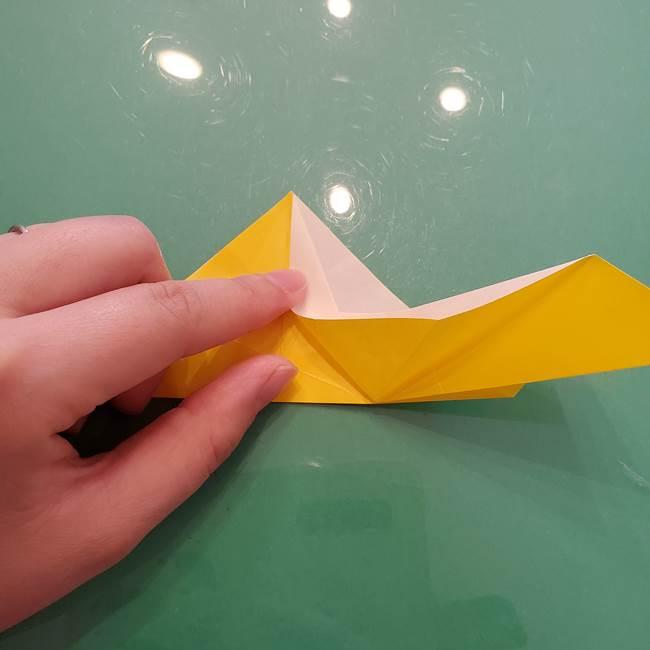 折り紙のセミ 立体的で難しい折り方・作り方(35)
