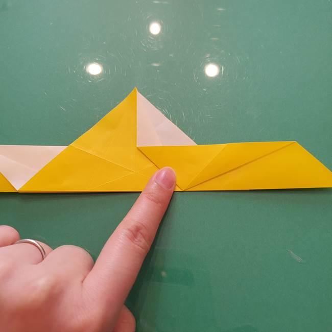 折り紙のセミ 立体的で難しい折り方・作り方(36)
