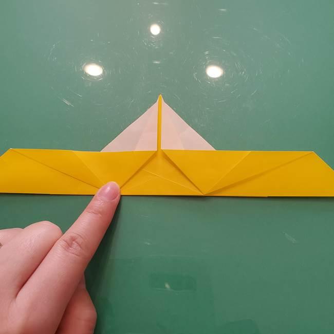 折り紙のセミ 立体的で難しい折り方・作り方(37)