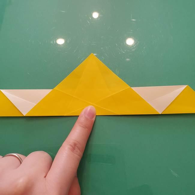折り紙のセミ 立体的で難しい折り方・作り方(38)