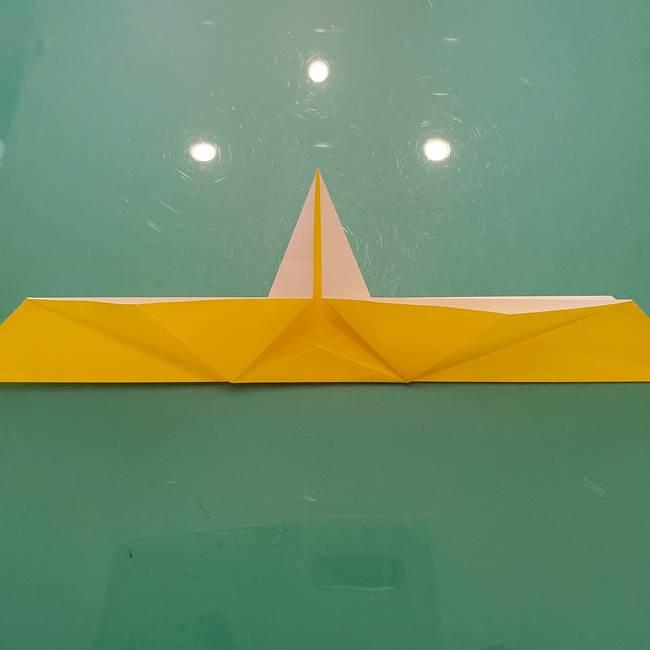 折り紙のセミ 立体的で難しい折り方・作り方(39)