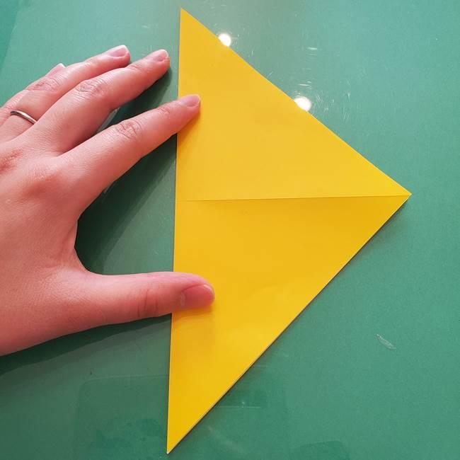 折り紙のセミ 立体的で難しい折り方・作り方(4)