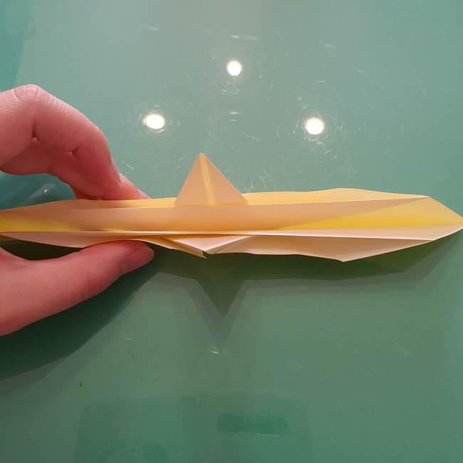 折り紙のセミ 立体的で難しい折り方・作り方(40)