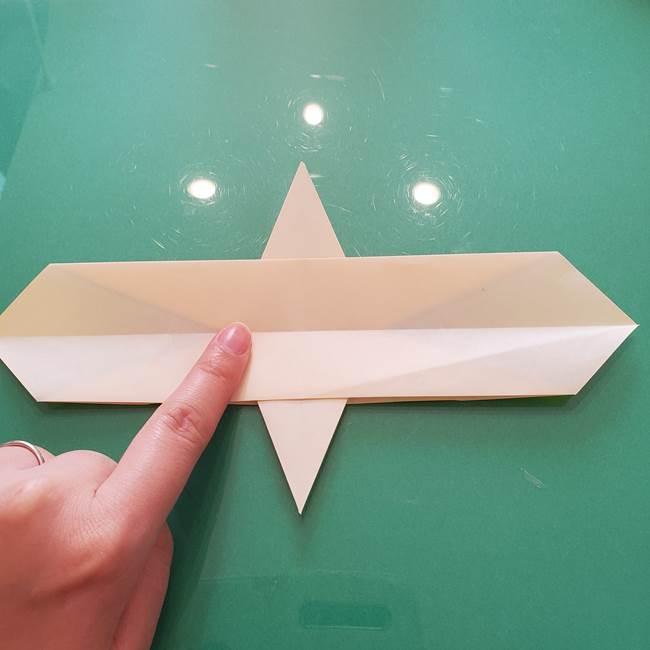折り紙のセミ 立体的で難しい折り方・作り方(41)