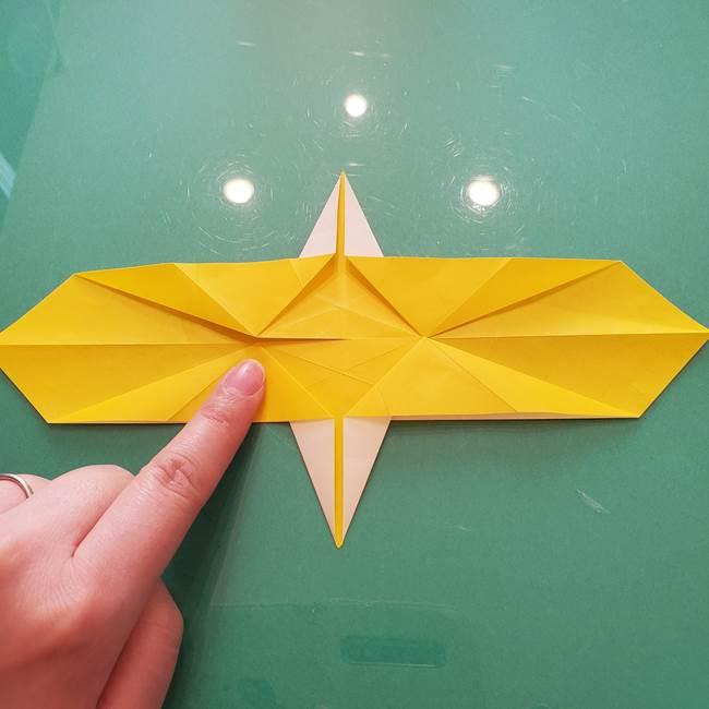 折り紙のセミ 立体的で難しい折り方・作り方(42)