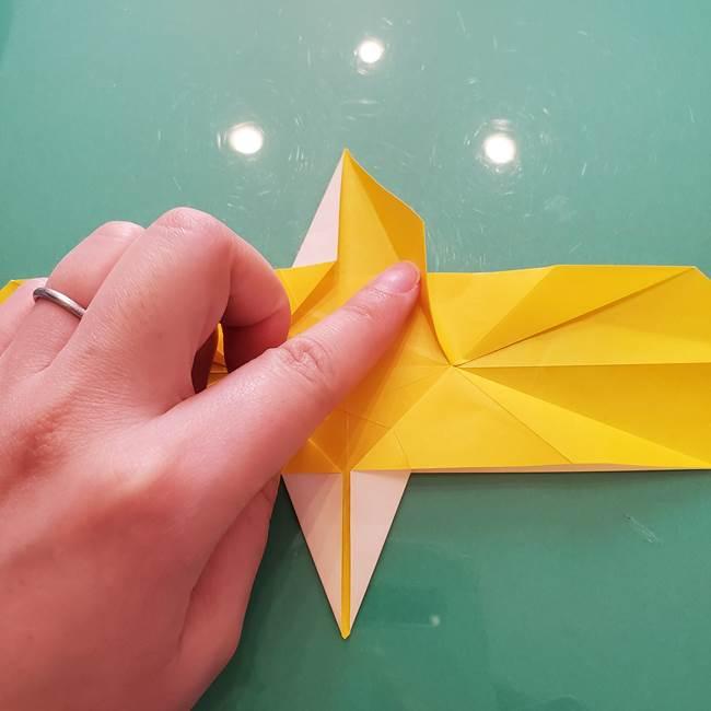 折り紙のセミ 立体的で難しい折り方・作り方(43)