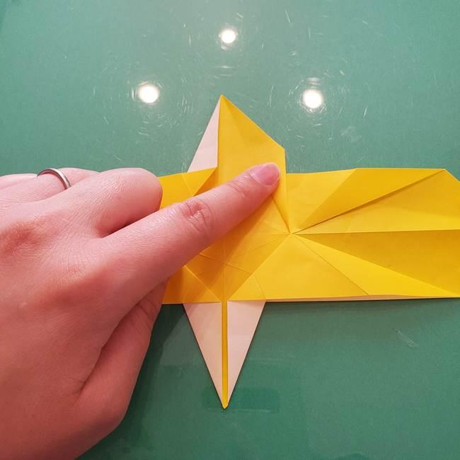 折り紙のセミ 立体的で難しい折り方・作り方(44)