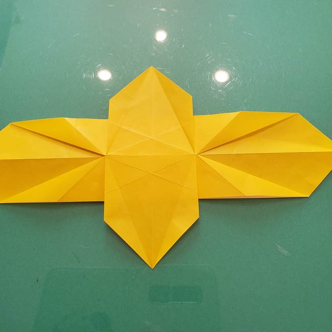 折り紙のセミ 立体的で難しい折り方・作り方(45)