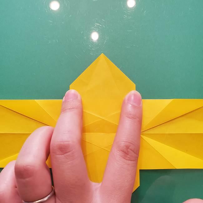 折り紙のセミ 立体的で難しい折り方・作り方(46)