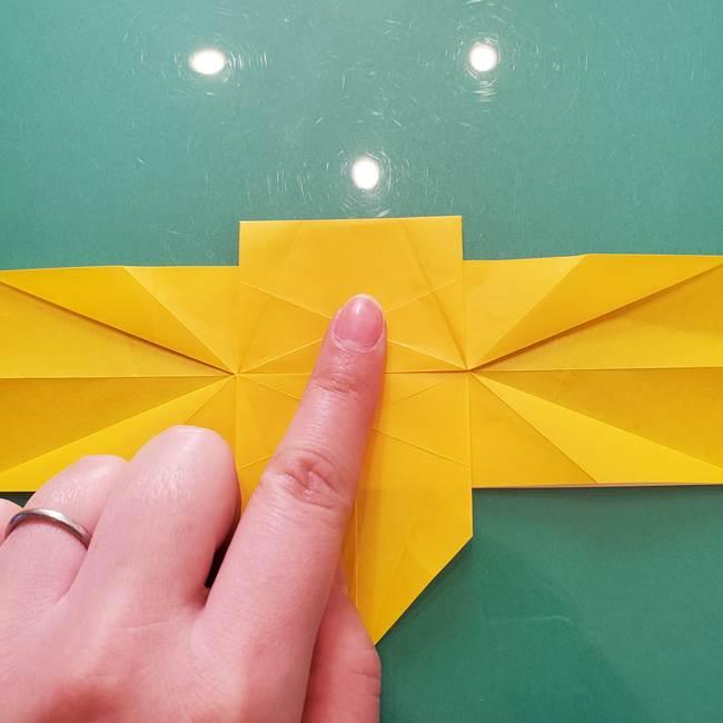 折り紙のセミ 立体的で難しい折り方・作り方(47)