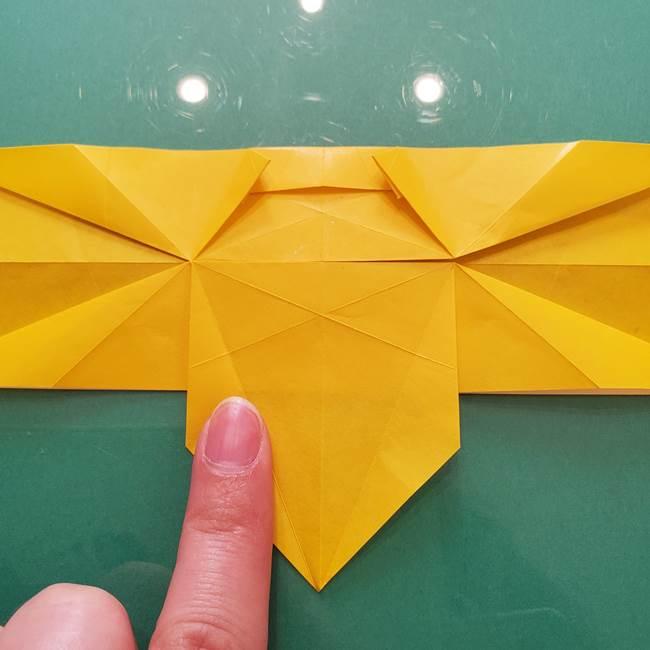 折り紙のセミ 立体的で難しい折り方・作り方(51)